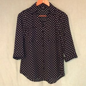 By & By button down blouse